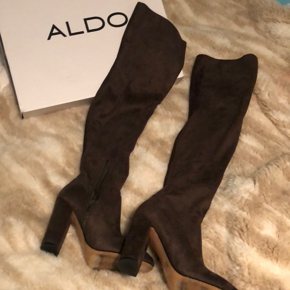 ec59aab4d52 Aldo Shoes - ALDO over the knee boots in olive green suede
